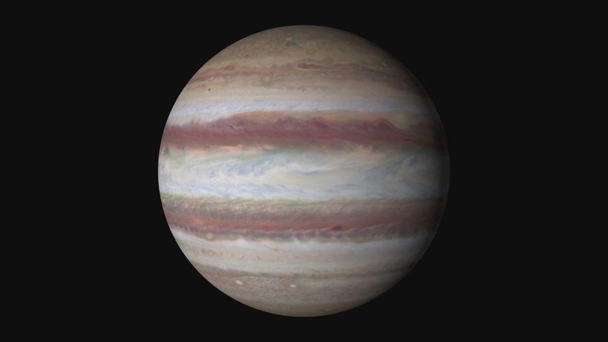 Mapa global de Júpiter