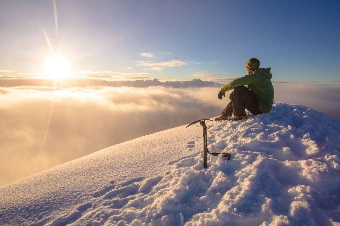 Saqué esta foto esta mañana (12/1/2015) en la cima del pico Trappers tras pasar la noche ...