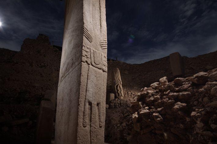 Gran parte del enorme sitio arqueológico Göbekli Tepe, en Turquía, aún es un misterio. Estos pilares, ...