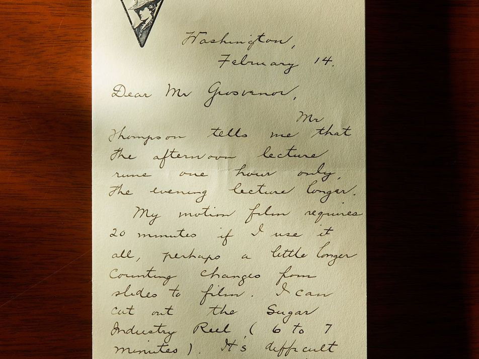 Archivo de cartas y recortes de noticias de esta exploradora del siglo XIX