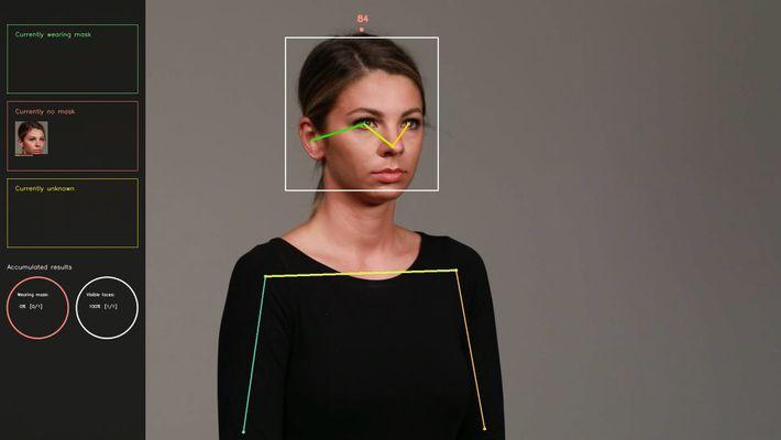 """Los algoritmos de """"clasificación"""" deciden si la imagen recortada de la cara contiene una mascarilla. Este ..."""
