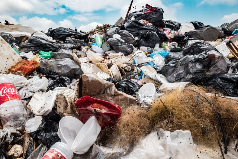 Material recolectado de comunidades ribereñas cercanas a Manaos, en su mayoría, se trata de plástico desechable.