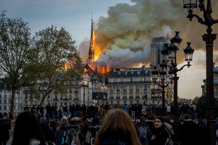 Poco después de que los últimos turistas salieron de Notre Dame el 15 de abril, comenzó ...
