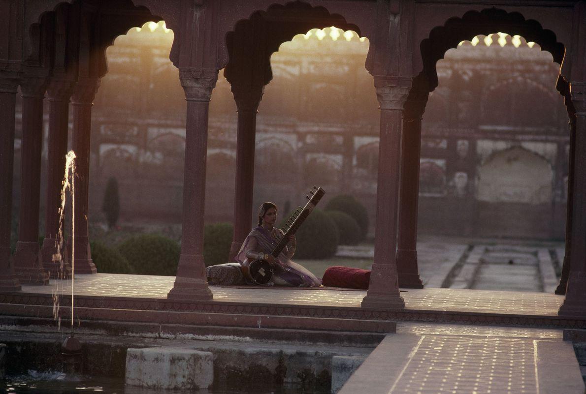 Un sitar sereno