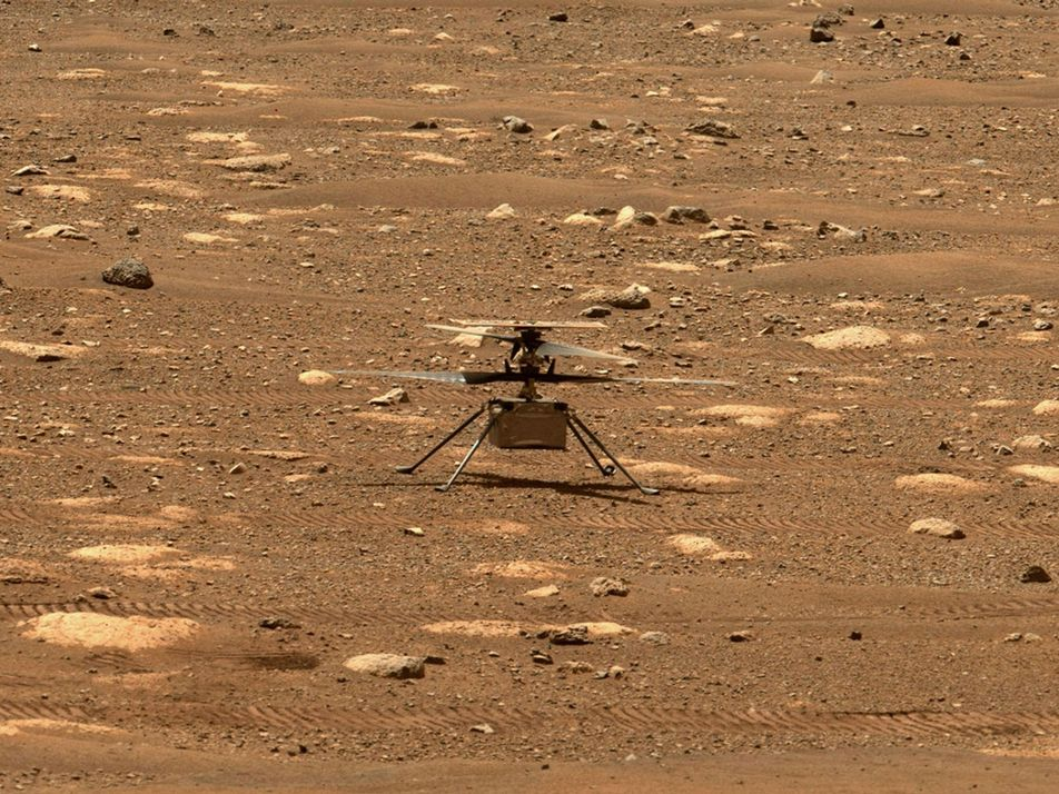 El helicóptero de la NASA se prepara para hacer historia en Marte