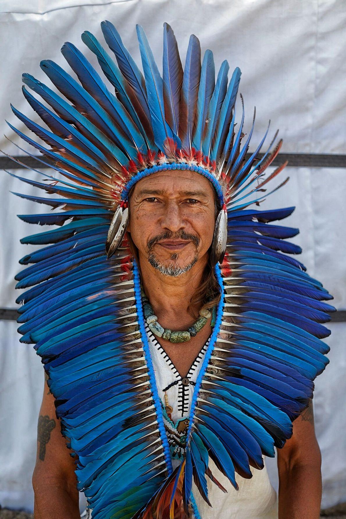 """Chamán de la tradición Lakota, convocado por Nikolay Oorsak en """"La Llamada de los 13 chamanes""""."""