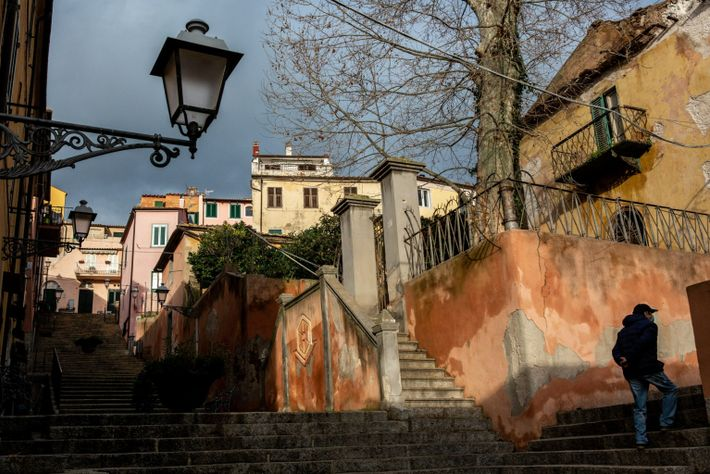Small town's historic centre: Elba Island
