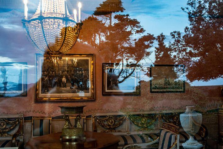 Elba Island, Portoferraio reflection of Villa dei Mulin