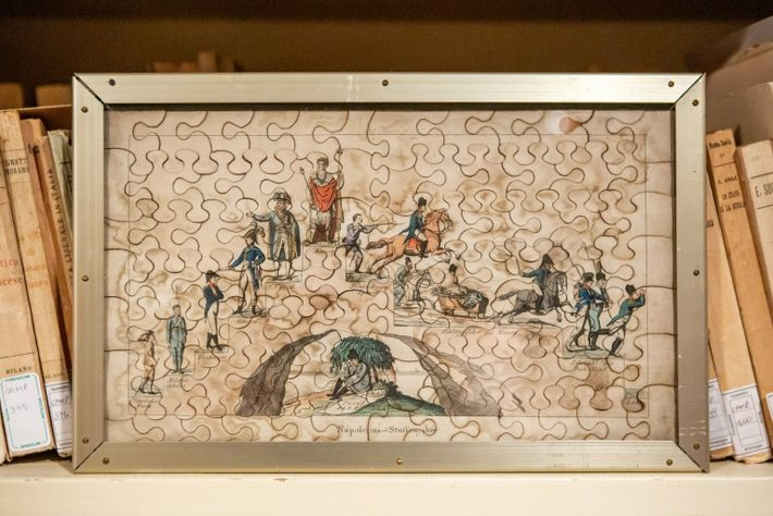 A rare 1814 German puzzle: Rise and fall of Napoleon