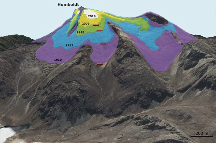 """""""La máquina del tiempo"""". Reconstrucción histórica del retroceso glaciar en la zona de los Picos Humboldt ..."""