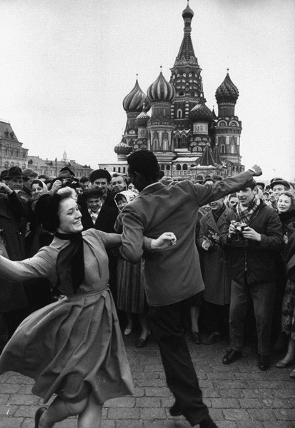 Festejos en honor a Gagarin