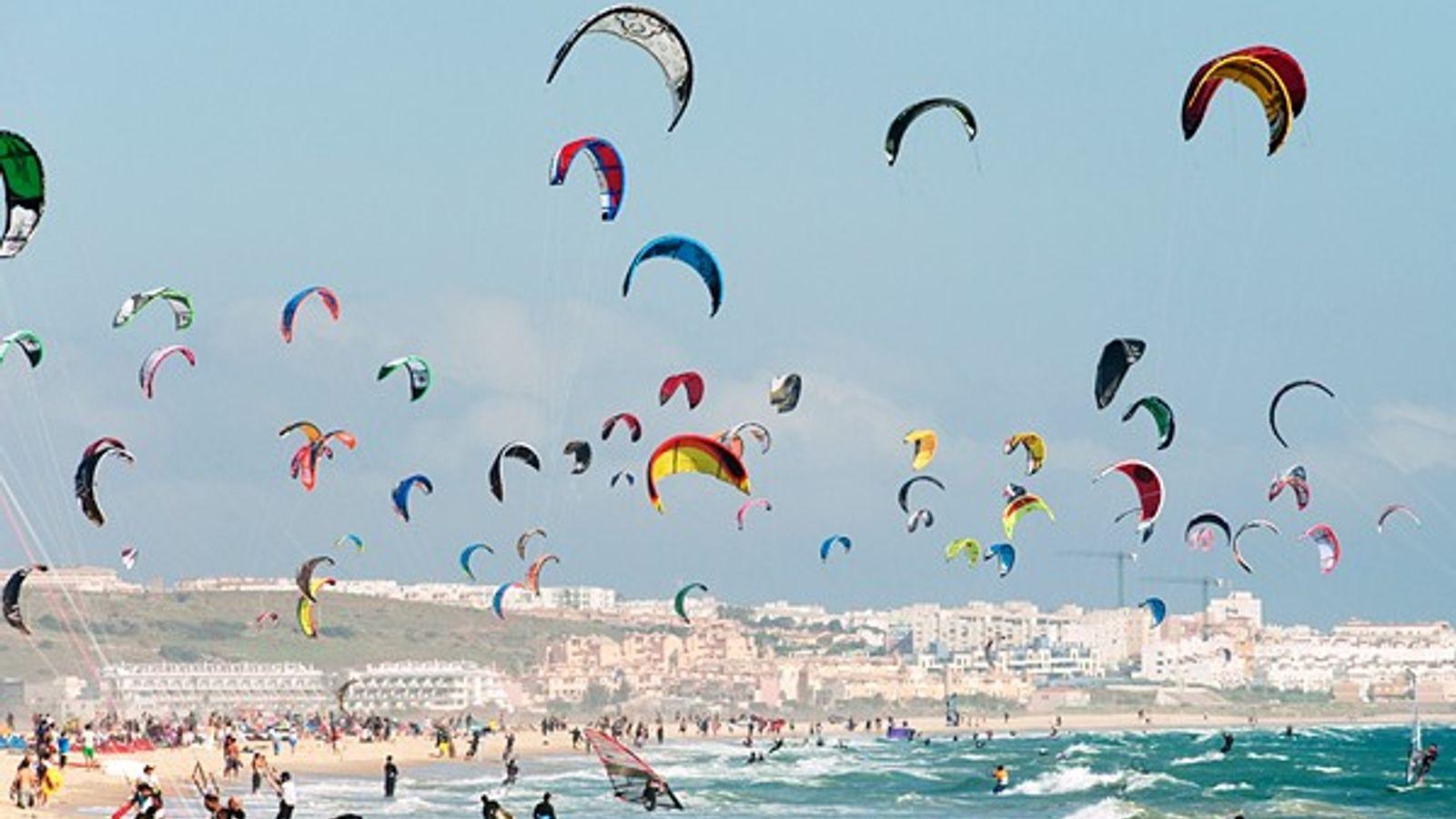 Kitesurf en Tarifa, España