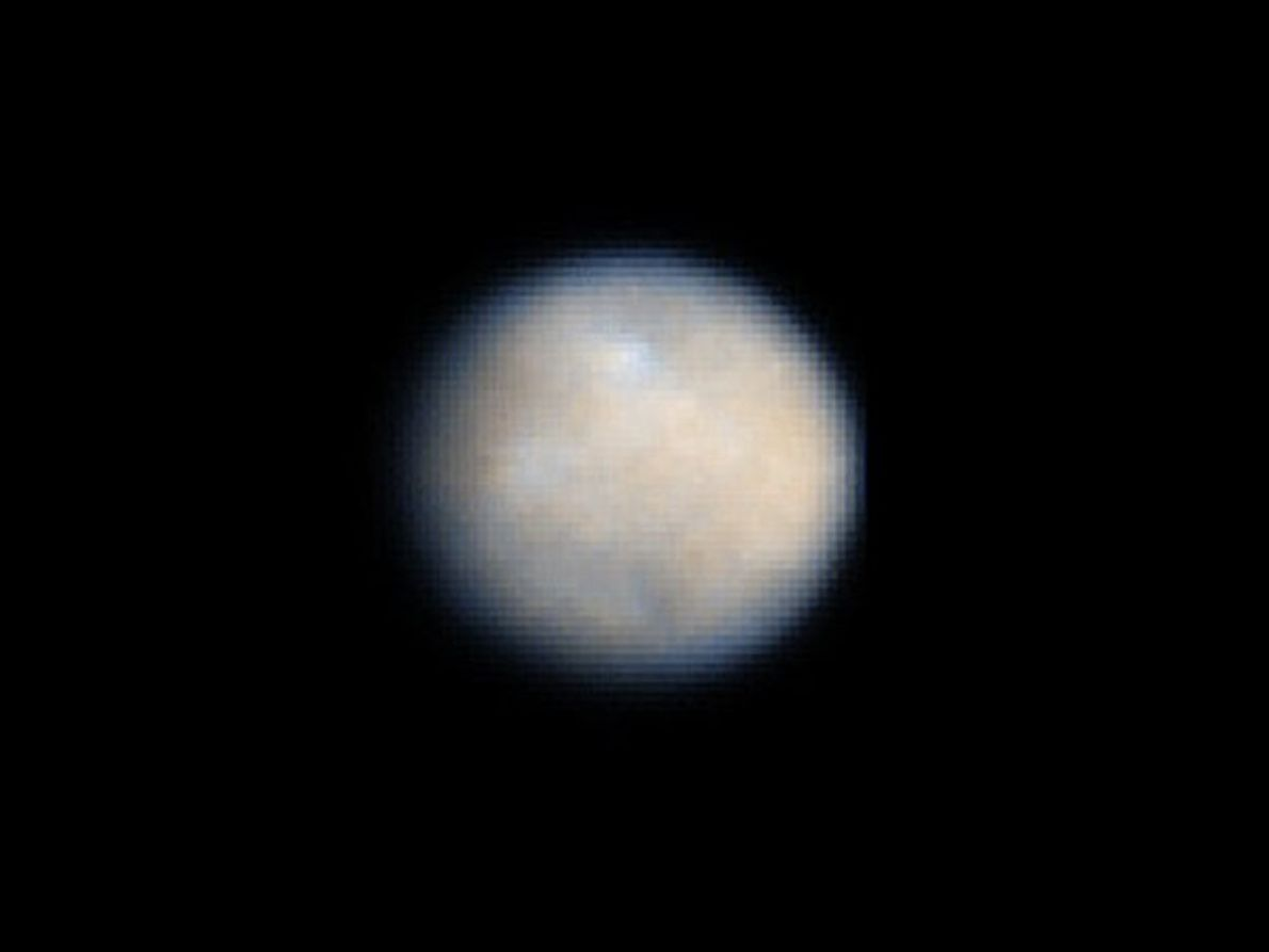 La forma redonda de Ceres, el objeto más grande del cinturón de asteroides que se encuentra ...