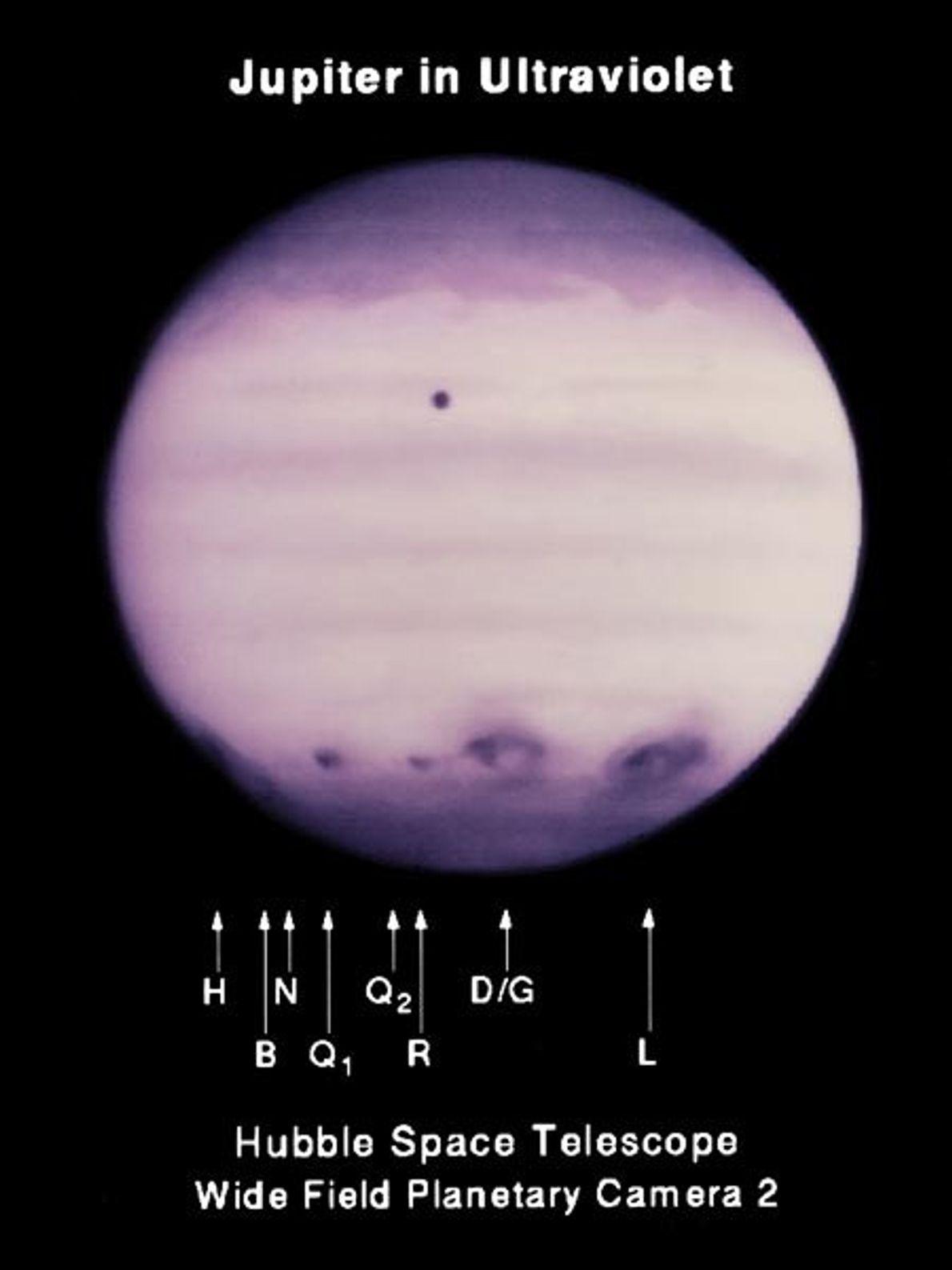 Los fragmentos del cometa P/Shoemaker-Levy 9 colisionaron con Júpiter en julio de 1994, y su impacto ...