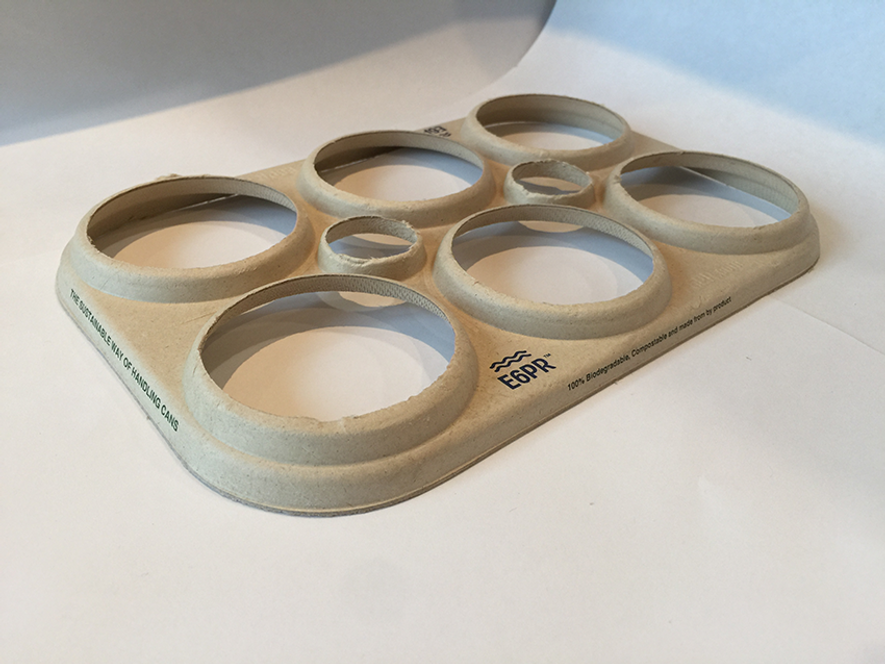 Estos anillos son biodegradables y compostables.