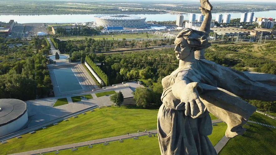 La Estatua de la Madre Patria en Volgogrado