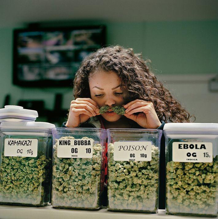 En Noho's Finest, Damaris Diaz, una dispensaria médica de marihuana en el área de Los Ángeles, ...