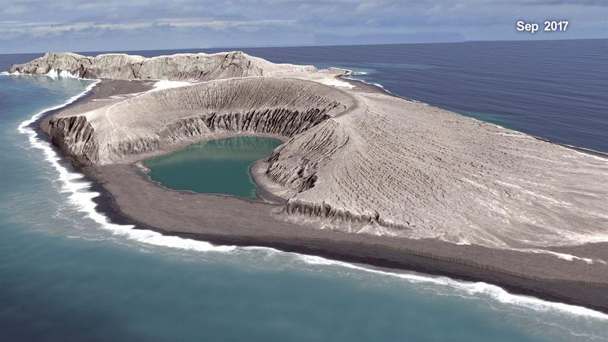 Mira cómo una erupción volcánica crea una isla en esta animación de la NASA