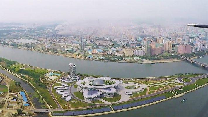 Conoce la misteriosa capital de Corea del Norte desde arriba