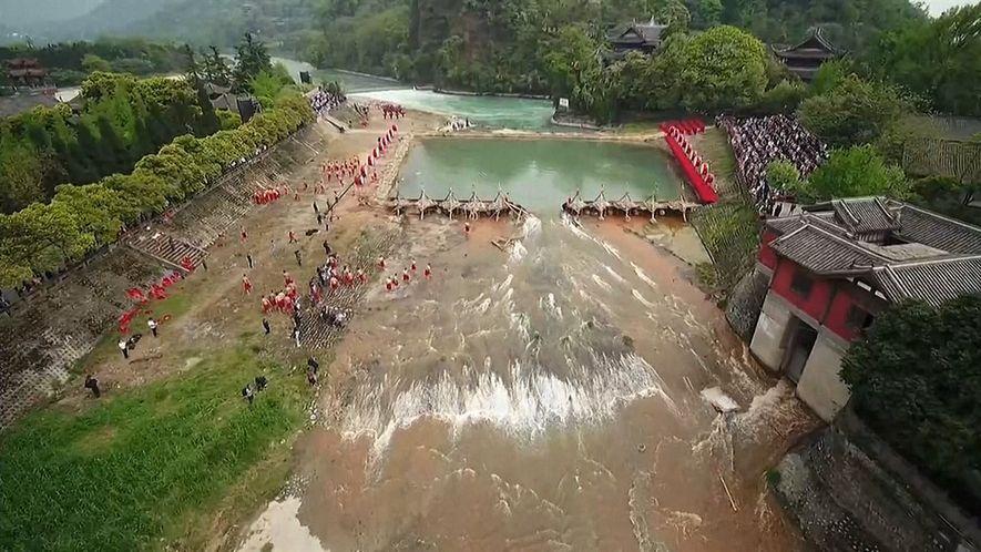 Una antigua maravilla china que transformó un río