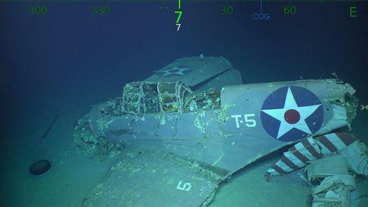 Restos del portaaviones U.S.S. Lexington de la Segunda Guerra Mundial encontrados