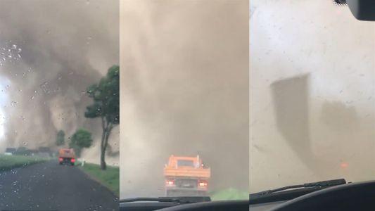 ¿Cómo se ve un tornado desde adentro?