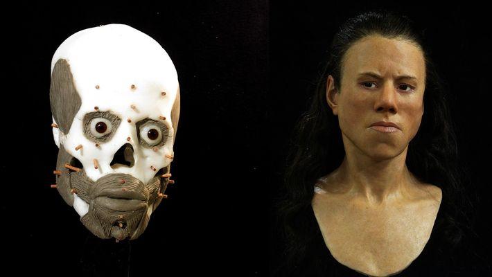 El rostro de una adolescente es reconstruido 9.000 años después