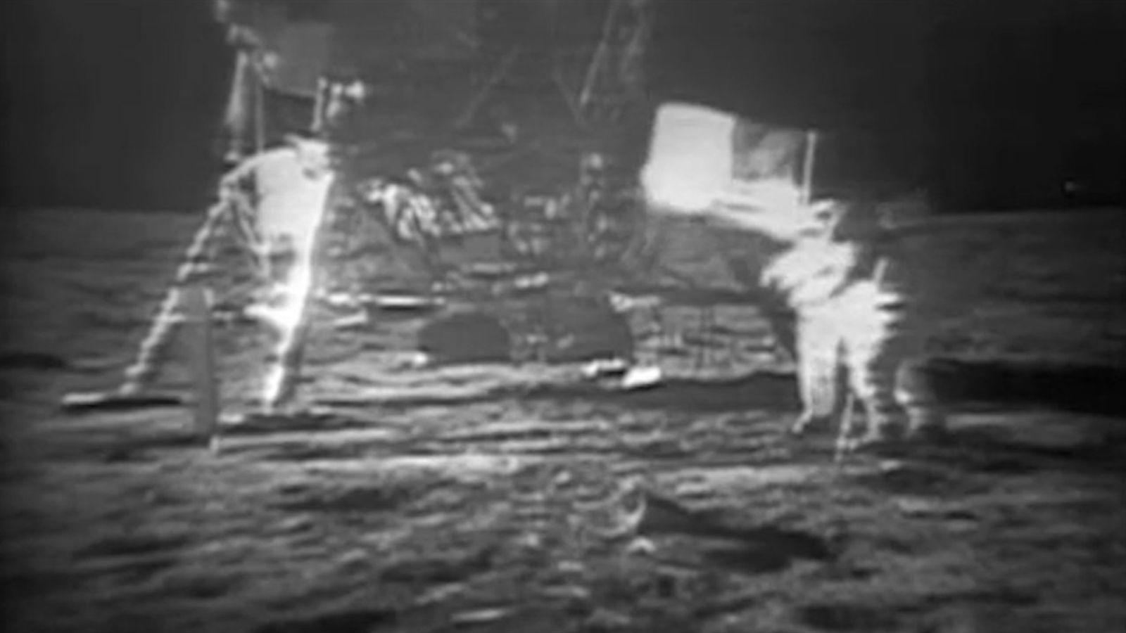 Video de 2009 muestra imágenes restauradas del Apolo 11 y la llegada a la luna