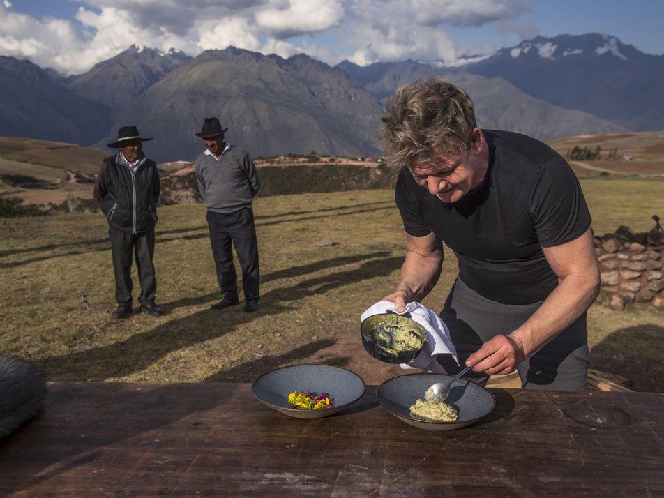 Gordon Ramsay en el Valle Sagrado de Perú