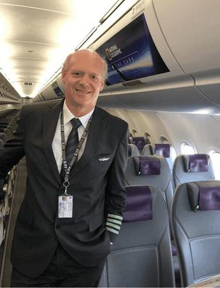 Klaus Von Storch,piloto a cargo del vuelo.