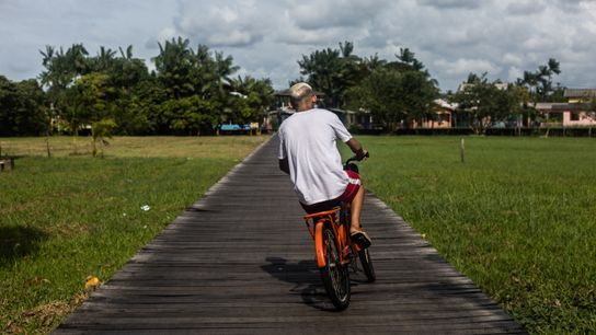 Ciclista en Afuá.
