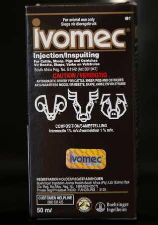 Ivermectina para uso veterinario. En Sudáfrica, ya se permite el uso limitado de ivermectina para tratar ...