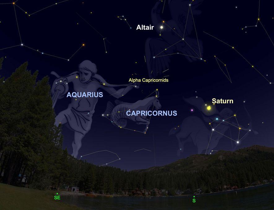 Este 2 de agosto, Alpha-Capricornids parecerá irradiar luz desde cerca de la constelación de Capricornio.