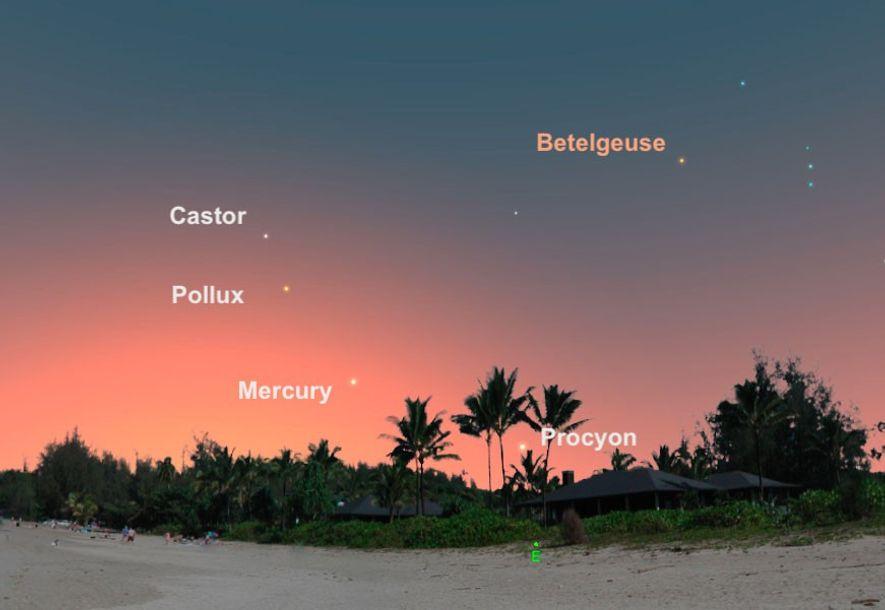 Visto bajo en el cielo del este, Mercurio estará en su mejor momento del año el ...