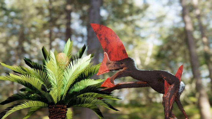 El nuevo esqueleto fósil ha desvelado que esta especie de pterosaurio podría haber sido capaz de volar ...