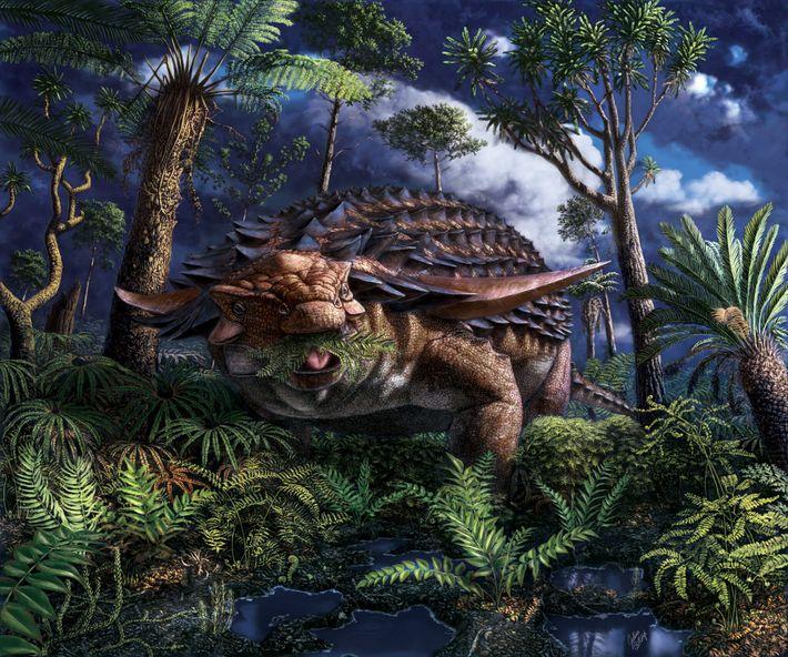 Hace unos 110 millones de años, en lo que ahora es el noroeste de Alberta, el ...