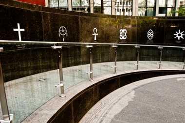 African Burial Ground National Monument, Lower Manhattan, New York City, USA, , symbols