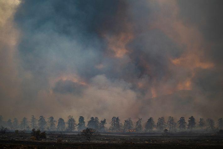 El incendio de El Dorado en el condado de San Bernardino el 6 de septiembre de ...