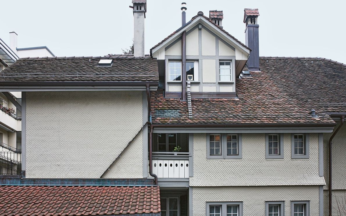 Estas escaleras vinculan varias azoteas para ayudar a los gatos a llegar a la ventana.