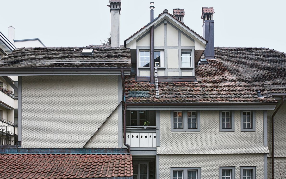 Estas escaleras vinculan varias azoteas para ayudar a los gatos a llegar a la ventana.   ...