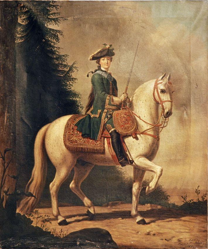 Montar a caballo era uno de los pasatiempos favoritos de Catalina la Grande.