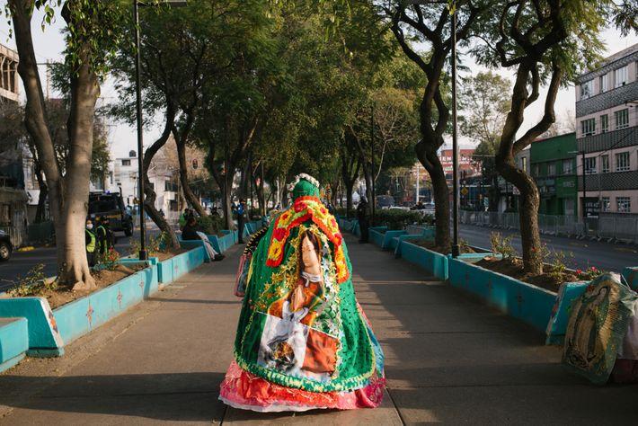 Ana Rita Ruedas Arana ha participado en la peregrinación por 14 años. Hoy, con 64 años, ...