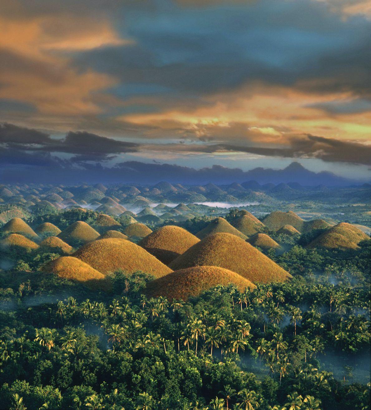 Colinas de Chocolate en la Isla de Bohol, Filipinas
