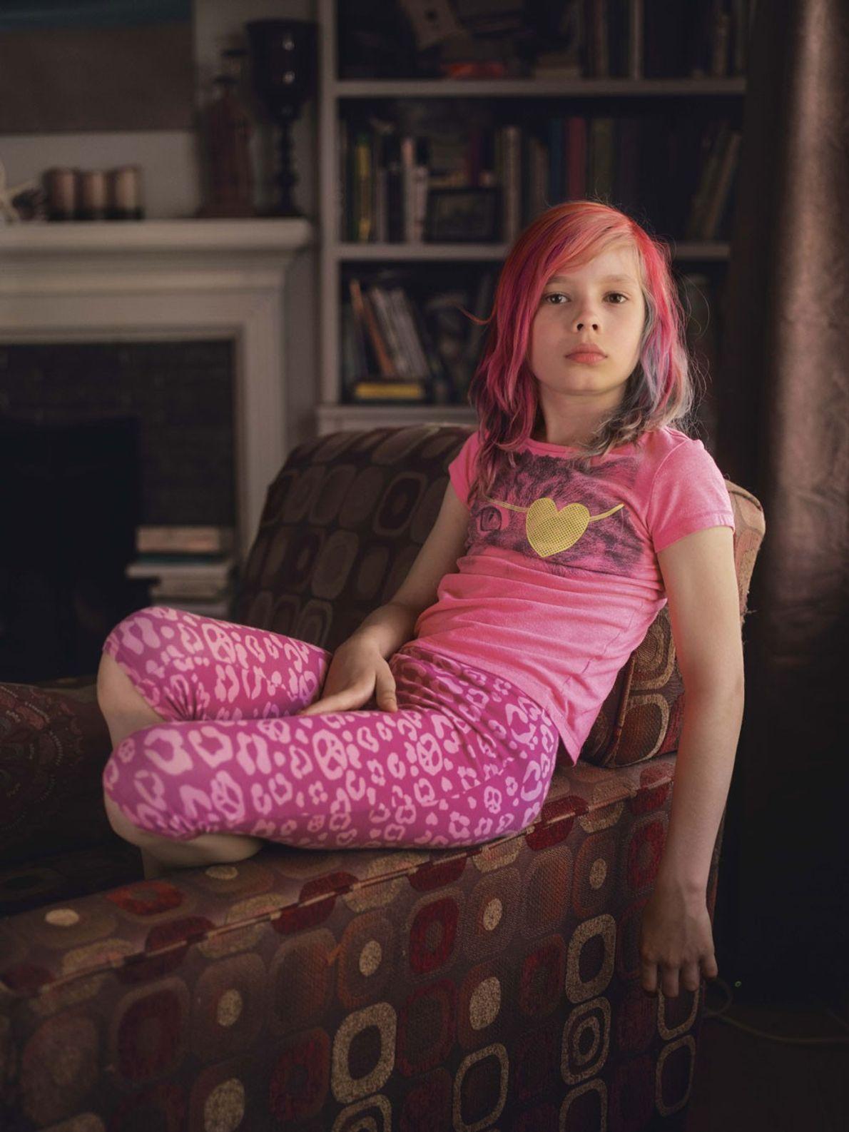 Avery Jackson, una niña trans de nueve años en Kansas City, dice –Todo lo que tiene ...