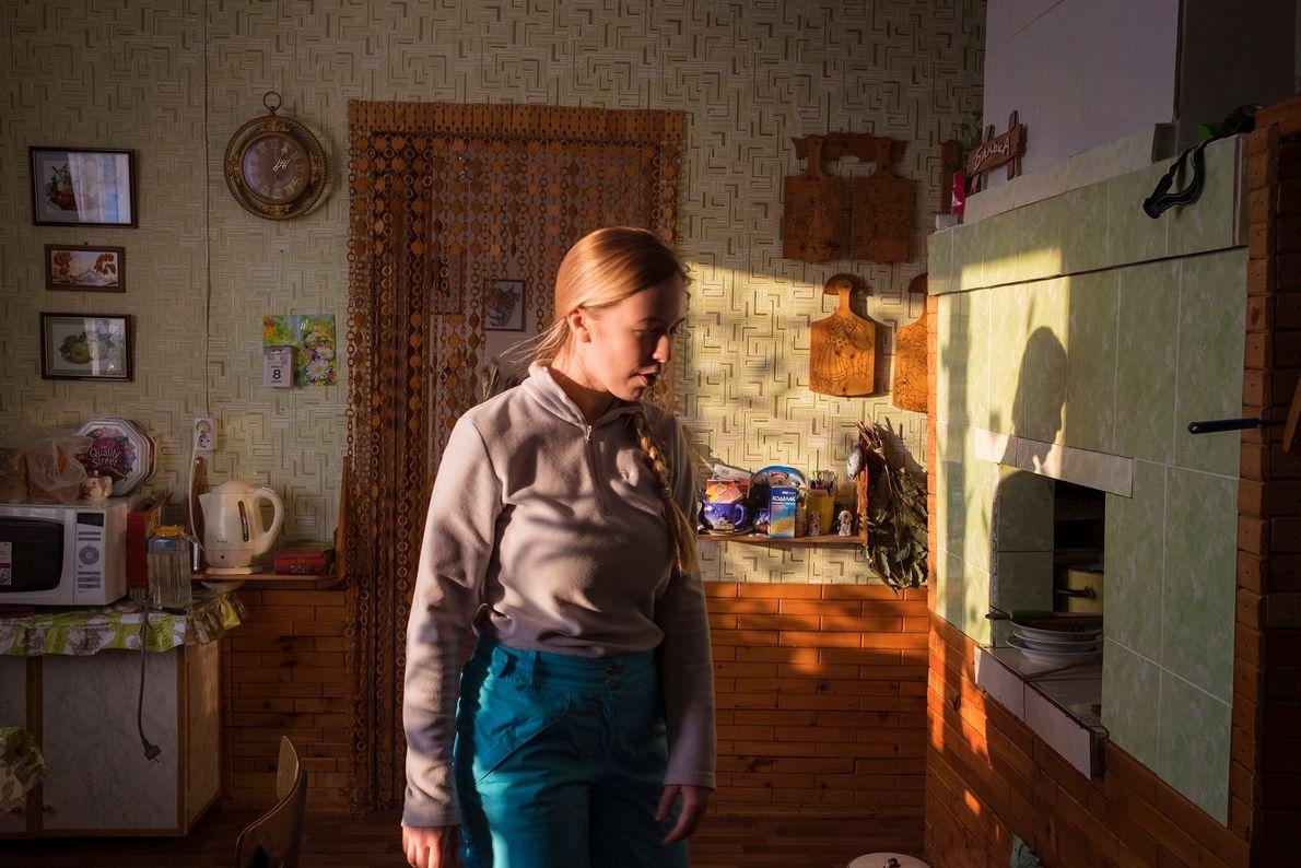 Arina Shirokaya, de 23 años, ha finalizado sus estudios en Arkhangelsk, la ciudad más grande la ...