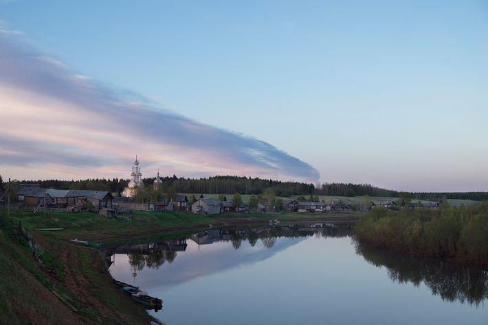 Un poblado encantador a orillas del Río Mezén, el pueblo de Kimzha fue nombrado  en ...