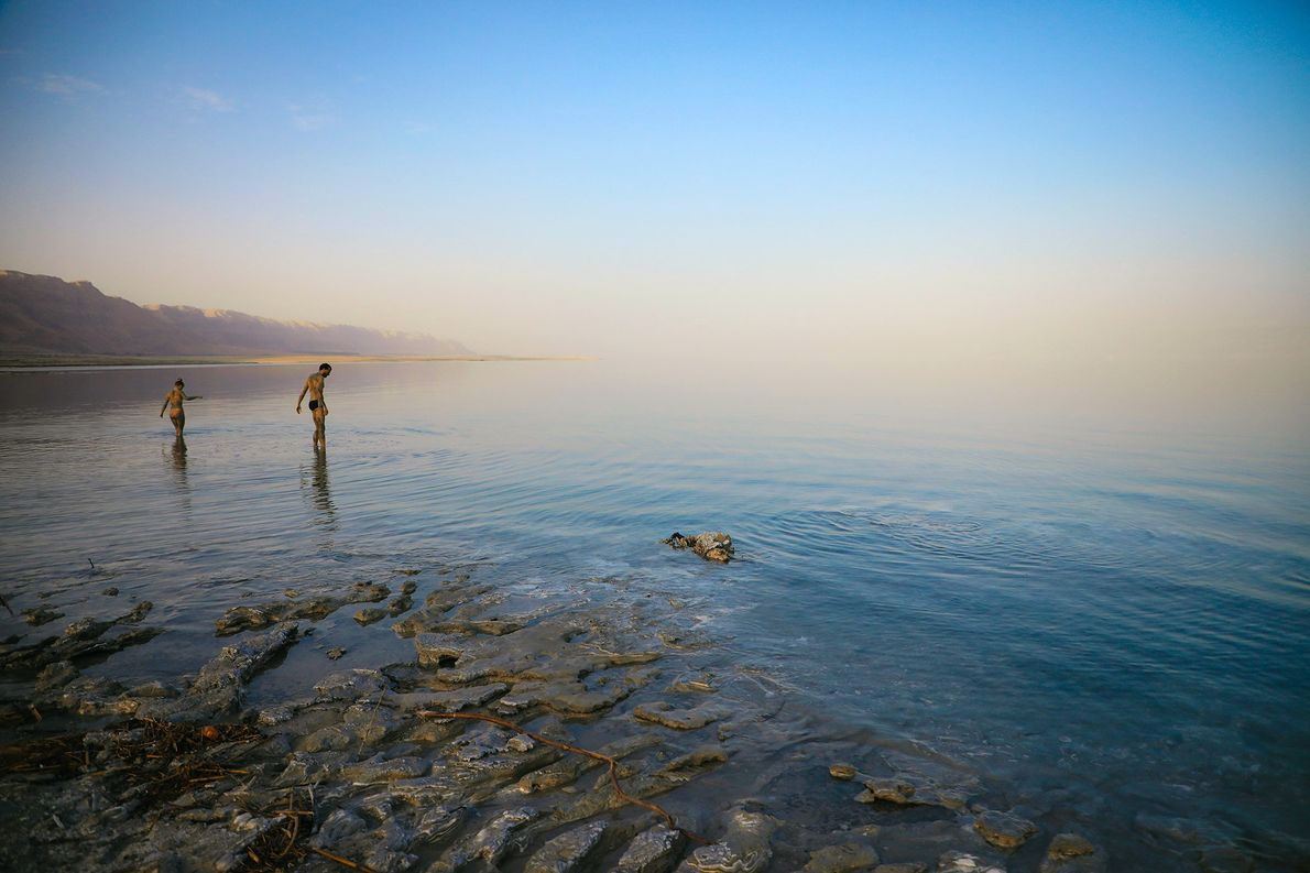 Mar Muerto, Jordania, Israel, Ribera Occidental