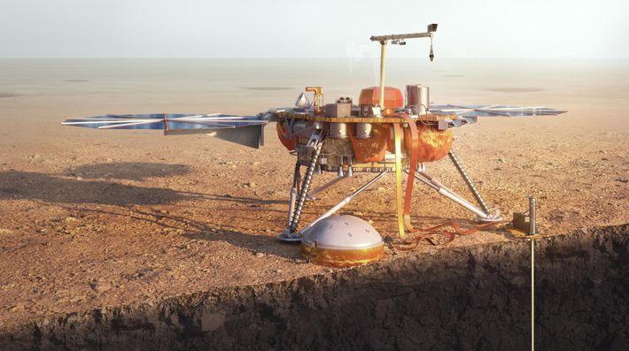 La nave espacial InSight de la NASA se adentra en los misterios de Marte