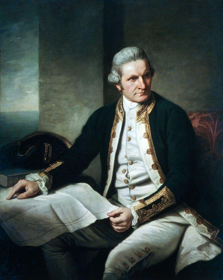 El capitán James Cook, un explorador de la Royal Navy (Marina Real británica), dedicó tres años ...