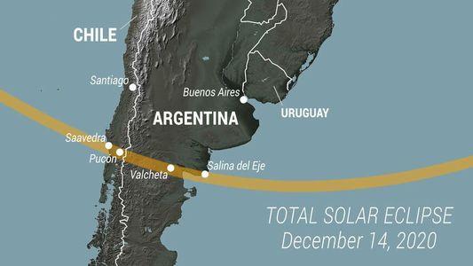 Argentina y Chile se preparan para el eclipse total de Sol de 2020